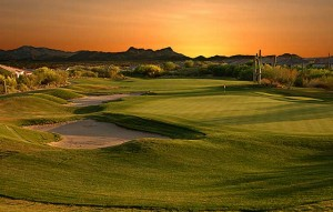 Arizona Golf Course at Sunset
